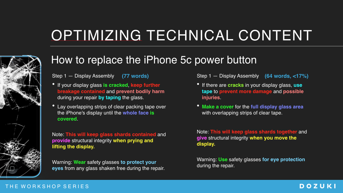 Replace iphone 5c power button STE