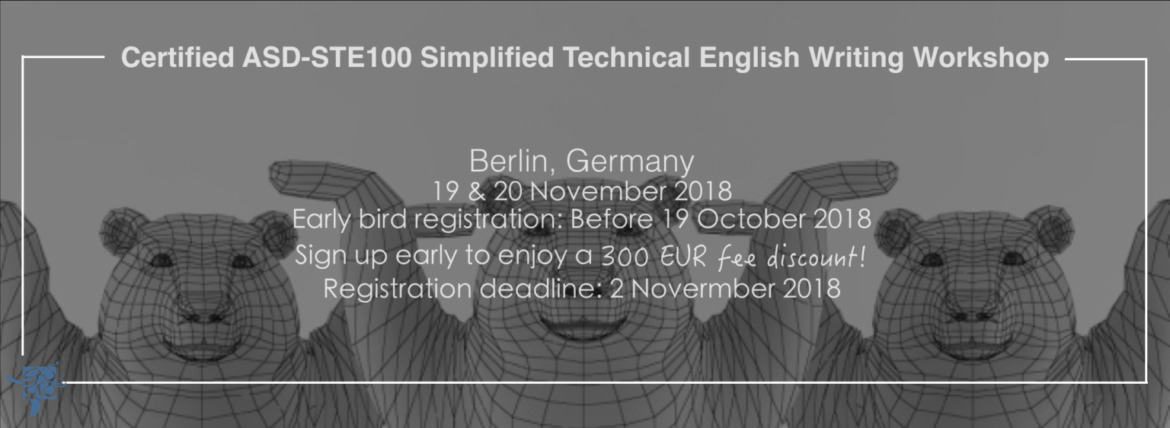 Join a 2-day Simplified Technical English training workshop session in Berlin, Germany